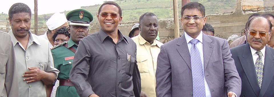 President Mr.Kikwete with our CEO,Mr.Anuj Shah